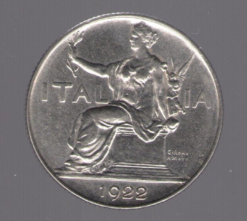 0d05629b83 1922 Vittorio Emanuele III Buono da Lire 1 FDC – Filatelia De Simoni