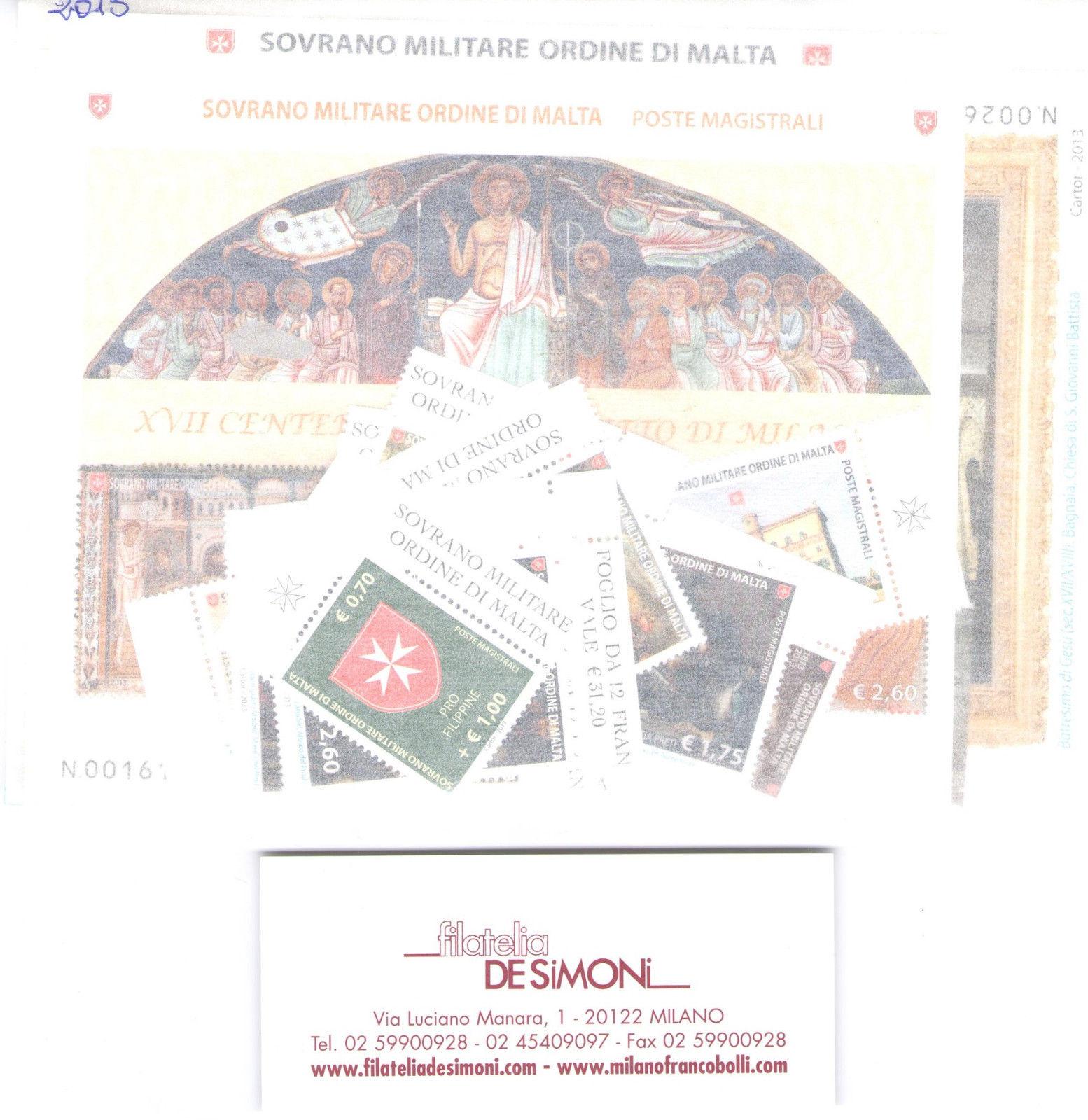 2013 Smom Annata completa 25 valori + 9 Foglietti MNH**