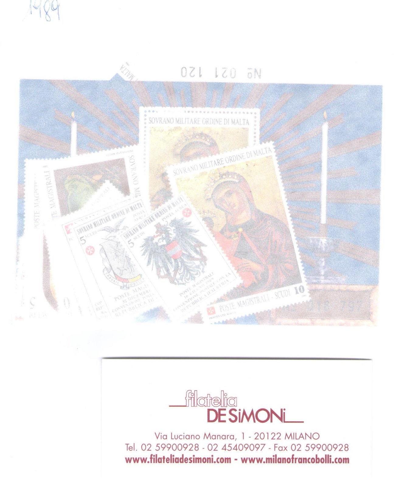 1989 Smom Annata completa 31 valori + 2 Foglietti MNH**