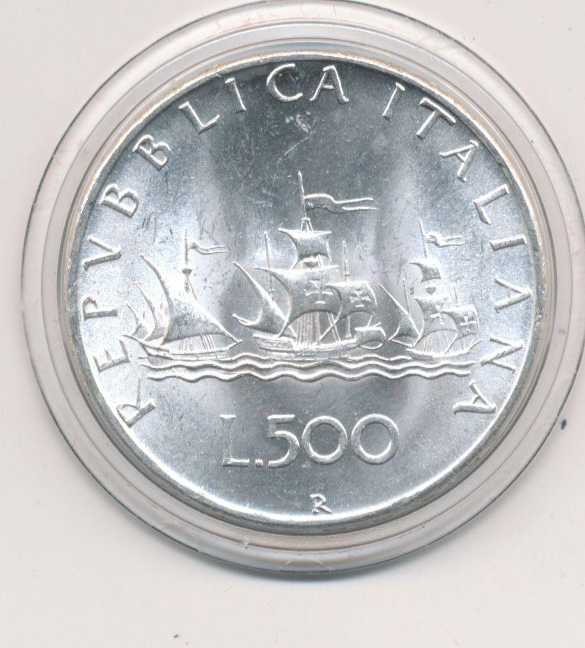 73d72c0fb7 1967 Repubblica ItalianaItaly 500 Lire Argento Veliero FDC ...
