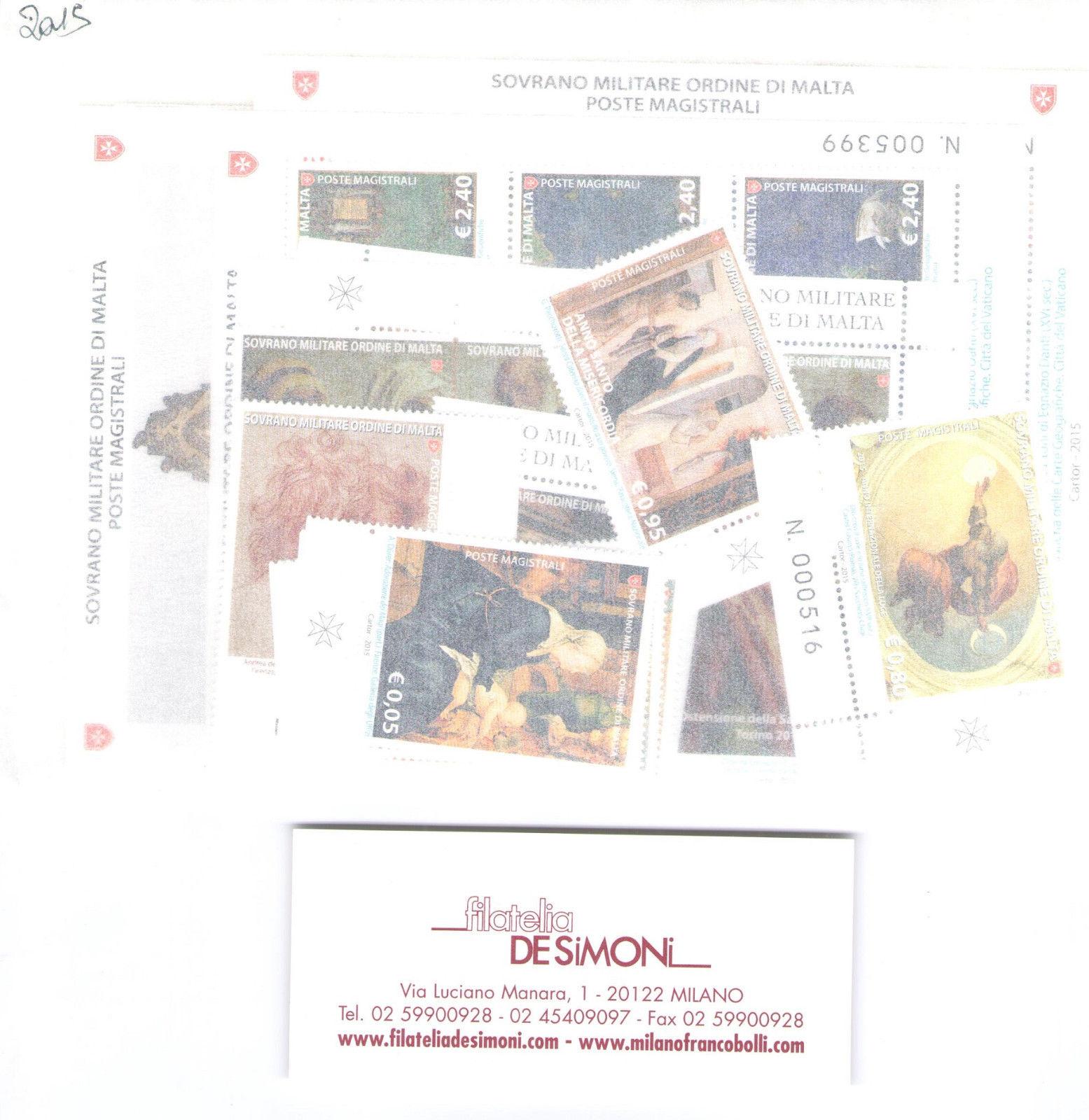 2015 Smom Annata completa 31 valori + 7 Foglietti MNH**
