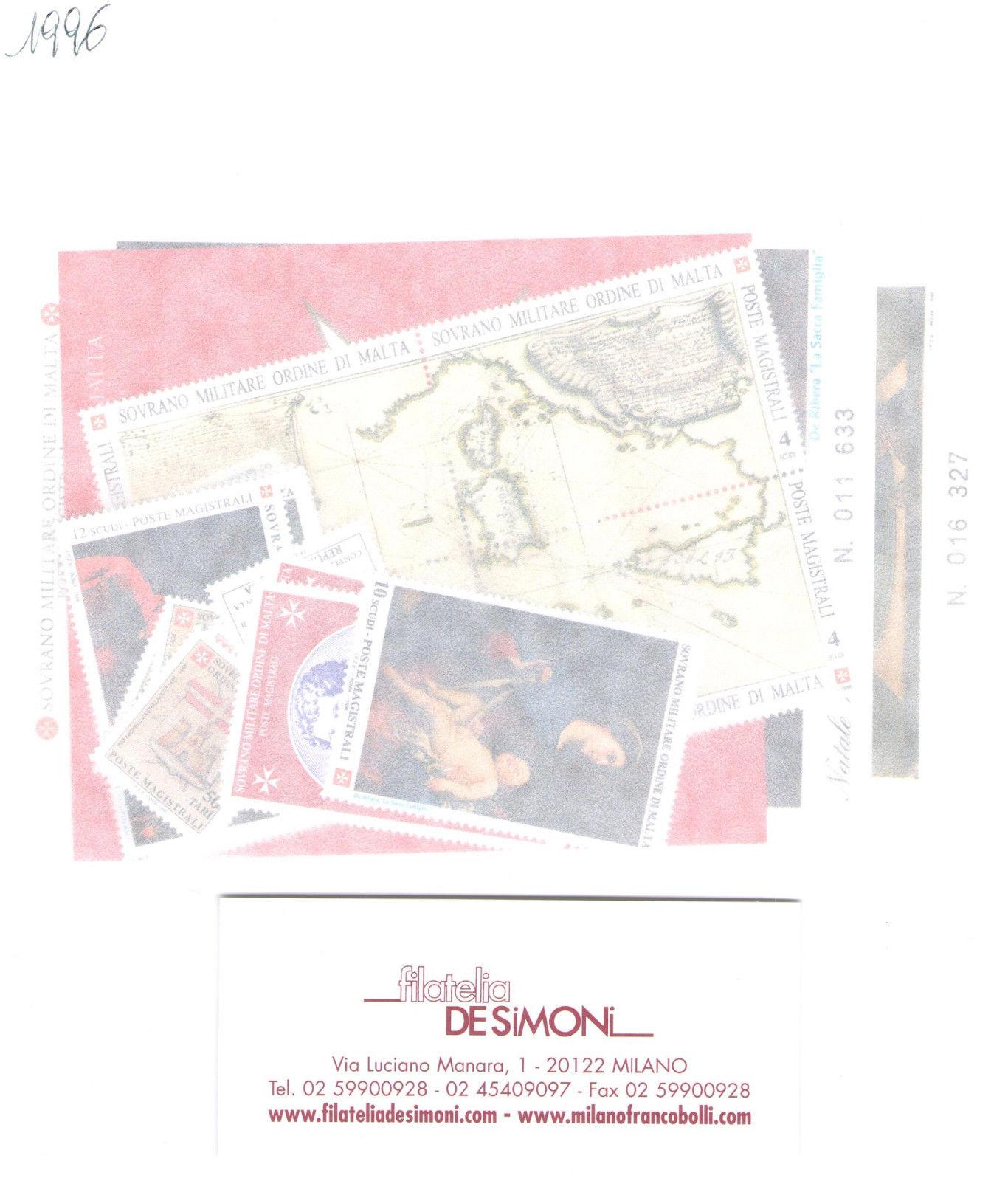 1996 Smom Annata completa 20 valori + 3 Foglietti MNH**
